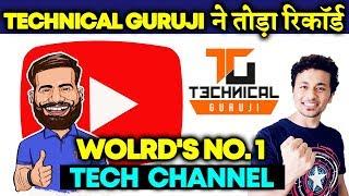 Technical Guruji BEATS Unbox Therapy, Becomes WORLD'S No. 1 Tech Channel