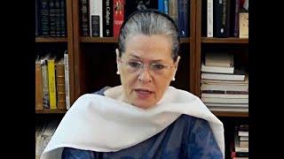 Sonia launches Rajiv Gandhi Kisan Nyay Yojya for farmers in Chhattisgarh