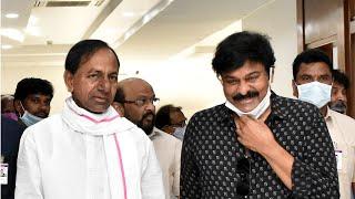 Chiranjeevi Meets KCR | Tollywood Stars Meets Telangana CM KCR | Top Telugu TV