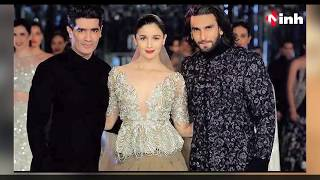 Alia and Ranveer make stunning showstoppers for Manish Malhotra