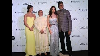 The Bachchans Rocks At The Vogue Beauty Awards 2017 Ceremony