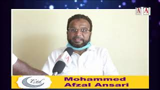 Eid-ul-Fitr Mubarak By Mohammed Afzal Ansari Social Worker