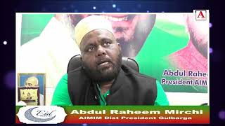 Eid-ul-Fitr Mubarak By Abdul Raheem Mirchi AIMIM Dist President Gulbarga