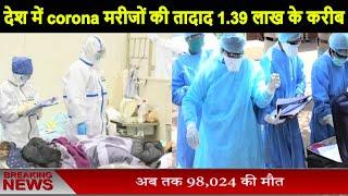 Coronavirus // देश में corona मरीजों की तादाद 1.39 लाख के करीब, 4021 की मौत