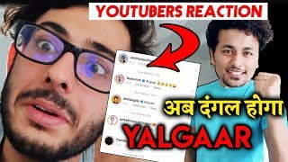 Top Youtubers Reacts To Carry Minati's YALGAAR Teaser | Ashish Chanchlani, Be YouNick And More