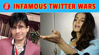 From Ameesha Patel To KRK - Here Are The Infamous Twitter Battles Between Bollywood Celebs
