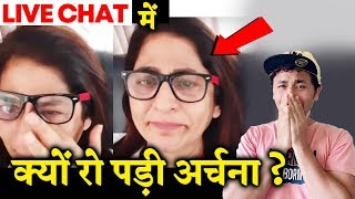 Archana Puran Singh CRIES In Between LIVE CHAT; Here's Why