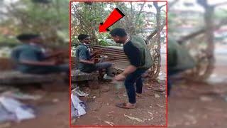 ViralVideo: Man caught red-handed allegedly breaking into shop, thrashed in Margao