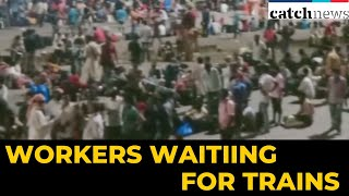 Mumbai's Lokmanya Tilak Station Crowded Wth Migrant Workers Waiting For Trains | Catch News