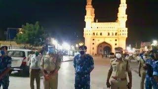 Shab E Qadr Night Charminar Hyderabad   CP Anjani Kumar At Charminar   @ SACH NEWS  