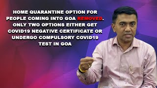 Govt changes its arrival SOP again. Home quarantine option for people coming into Goa removed