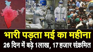देश में डेढ़ लाख से अधिक हुये CORONA CASE, बीते 8 दिन में ही बढ़े 51 हजार संक्रमित