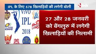 IPL Auctions 2018 - VIVO IPL 2018 Player Auction list announced / date & time