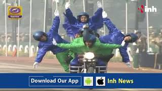 India's first Biker Women Contingent perform unbelievable stunts - Republic Day 2018 Parade