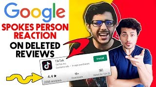Google Spokesperson FINALLY Reacts To Tik Tok Reviews And Ratings | Carry Minati The END Video