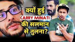 Carry Minati Is Being Compared To Salman Khan Of His Field; Here's Why | Youtuber Vs Tik Toker