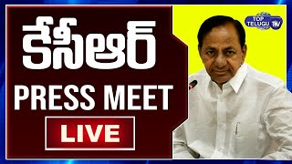 CM KCR Press LIVE | Telangana News | Inaugurating Konda Pochamma Sagar Reservoir | Top Telugu TV