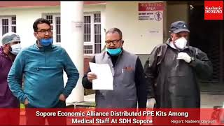 Sopore Economic Alliance Distributed PPE Kits Among Medical Staff At SDH Sopore
