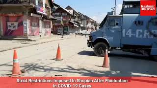 Covid-19: Strict Restrictions Imposed In Shopian After Fluctuation In COVID-19 Cases