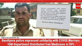 ISM bandipora in collaboration with Police organised Covid 19 awareness cum good will programme