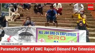 Paramedics Staff Under SRO 24 of GMC Rajouri Demand for Extension in Services