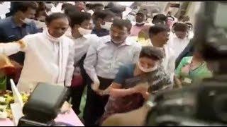CM Kcr Ka Mask Kaha Hain ??    KCR inaugurating Konda Pochamma Sagar Reservoir