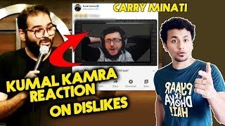 Comedian Kunal Kamra Reaction On DISLIKES On Carry Minati Roast Video