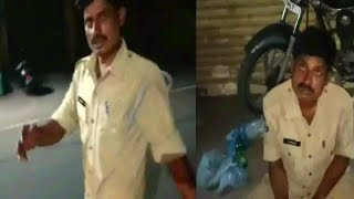 Sharab Peekar Ye Police Constable Hua Media Ke Camera Mein Capture | Hyderabad Kulsumpura |