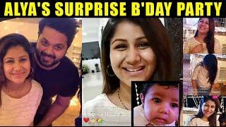 Alya Manasa surprise birthday celebration with Sanjeev & Baby Aila Syed