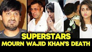 Bollywood Celebs MOURNS Wajid Khan's Death | Salman Khan, Akshay Kumar, Priyanka, Parineeti