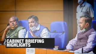 Hike in MSP of kharif crops, 50K cr equity infusion for MSMEs: Watch cabinet briefing highlights