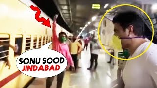 Sonu Sood Visits Thane Railway Station, Sends Over 1000 Migrants To UP And Bihar