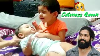 KGF Star Yash Daughter and Son Cute video | Ayra Yash | Rocking Star Yash | Rocky Bhai
