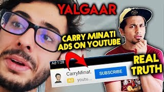 Is Carry Minati Using Youtube Ads For Views? | REAL TRUTH Exposed | Yalgaar | Tik Toker Vs Youtuber