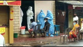 WATCH: Swab collection of locals begins in containment zone at Mangoor Hill