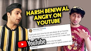 Harsh Beniwal ANGRY Reaction On Youtubers; Here's What He said