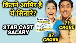 NET WORTH Of Taarak Mehta Ka Ooltah Chashmah Star Cast | Jethalal, Dayaben