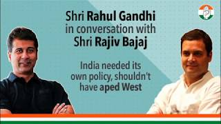 Shri Rahul Gandhi and Shri Rajiv Bajaj discuss the impact of the lockdown