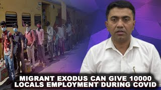 Migrants exodus can give 10000 locals employment during COVID: CM