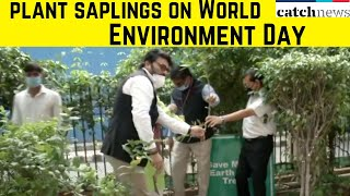 Prakash Javadekar, Anurag Thakur Plant Saplings On World Environment Day | Catch News
