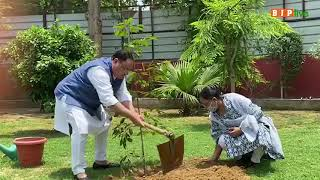 BJP National President Shri JPNadda  plants a sapling on #WorldEnvironmentDay