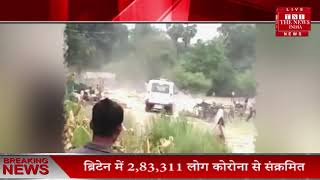 Uttar pradesh prayagraj की सब्जी रौंदने वाला किसानों की सब्जी कुचलने वाला इंस्पेक्टर सुमित सस्पेंड