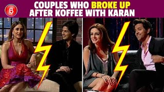 Shahid-Kareena To Hrithik-Sussanne - Celebs Who Broke Up After Coming Together To Koffee With Karan
