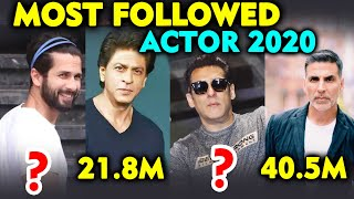 MOST FOLLOWED BOLLYWOOD ACTOR 2020 On INSTAGRAM
