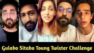 Bollywood Celebs's Toung Twister Challenge For Gulabo Sitabo