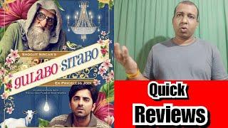 Gulabo Sitabo Quick Reviews With Ratings: WATCH Or Not? Amitabh Bachchan, Ayushmaan Khurranag