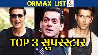 INDIA'S Most Popular Star | ORMAX Stars India List | Akshay Kumar, Salman Khan, Hrithik Roshan