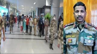 Shaheed Santosh Babu   Inida China Border Par Shaheed   RGI Airport   @ SACH NEWS  