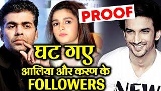 Sushant Singh Rajput | Alia Bhatt And Karan Johar LOSE Lakhs Of Followers In 24 Hours