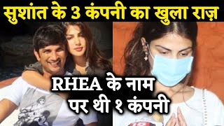 Sushant Singh Rajput Had 3 Companies; 1 On  Rhea Chakraborty's Name